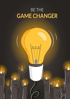 Thinking outside the box as a leadership game changer strategy poster.