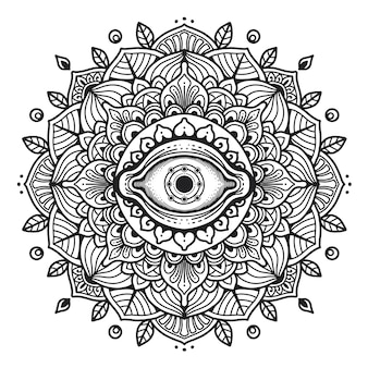 Third eye mandala