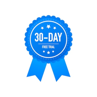 Thirty days free trial label or badge