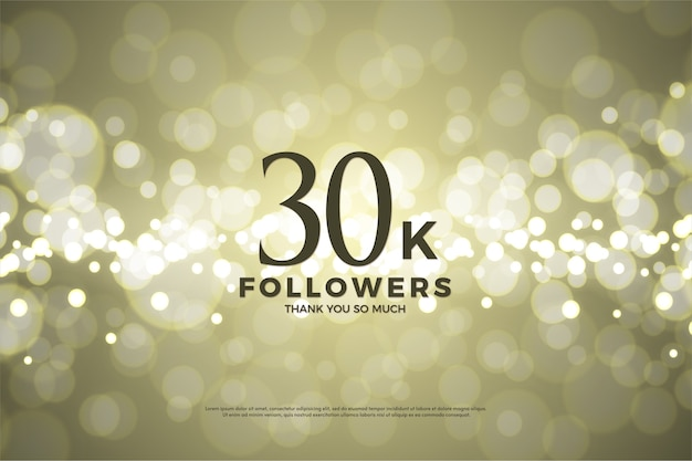 Thirty thousand followers with a background using gold foil