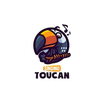 This the cute toucan mascot logo. this logo can use for restaurant, food and beverages, business or company logo.