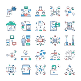 This day in age, we re all about fast, quick communication, so we hope you ll find these advertising and communication, networking vector pack to be very valuable to your stack of icons.