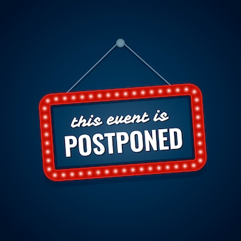 This event is postponed sign