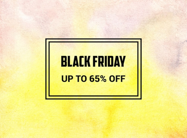 This is a black friday abstract watercolor background texture design