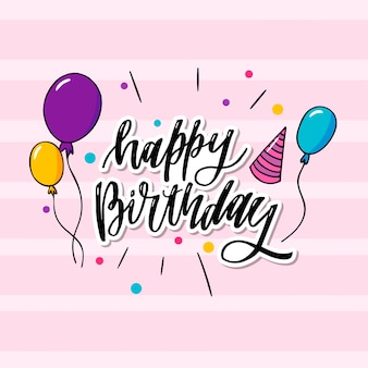 This is happy birthday typography which is can be applied to wallpaper, card, birthday card as well.