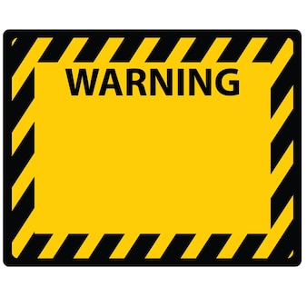 This is an image or warning board sign and sticker vector