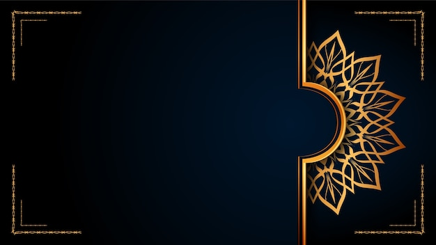 Это роскошный орнаментальный исламский фон мандалы, стиль арабески.