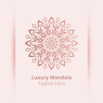 This is luxury ornamental mandala logo background, arabesque style.