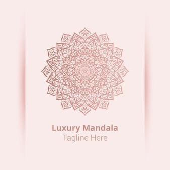 This is luxury ornamental mandala logo background, arabesque style.