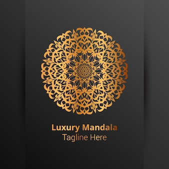 This is luxury ornamental mandala logo background