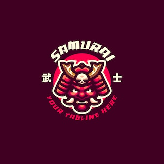 This the samurai mask mascot logo. this logo can use for sports, streamer, gaming and esport logo.