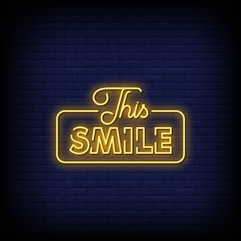 This smile neon signs style text