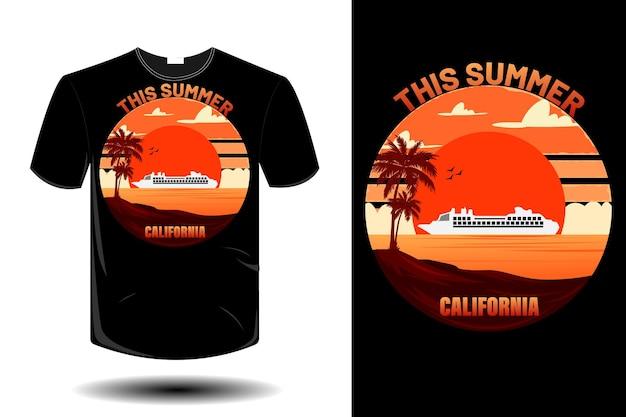 Этим летом дизайн футболки в калифорнии