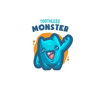 これはかわいいモンスターマスコットのロゴです。このロゴは、レストラン、食品および飲料、ビジネスまたは会社のロゴに使用できます。