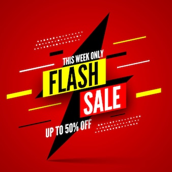 This week only flash sale banner, up to 50% off.
