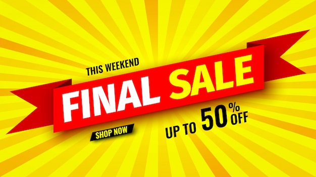 This weekend final sale banner,   illustration.