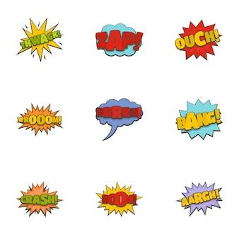 Thorn icons set, cartoon style
