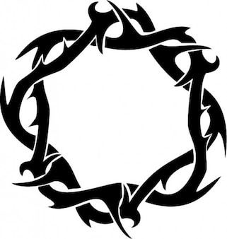 Thorns crown ring clipart top view