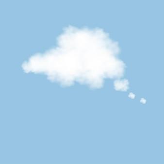 푸른 하늘, 3d 솜 털 구름에 흰색 빈 연설에 구름을 생각.