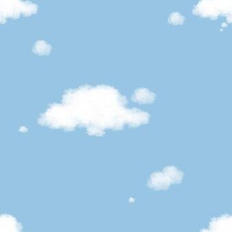 Мысль облако бесшовные на голубом небе