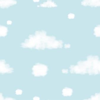 Облако мысли бесшовные на голубом небе.