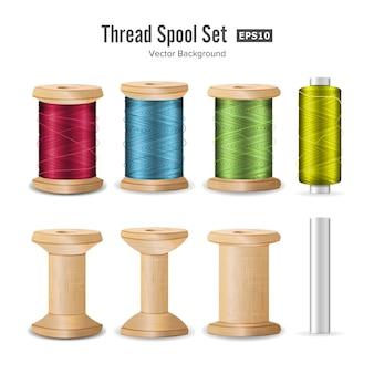 Thread spool set