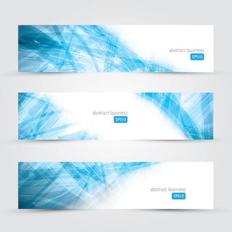 Three abstract business banner backgrounds vector