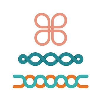 Three abstract shapes