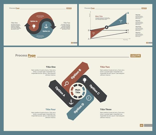Три набора шаблонов слайдов google analytics