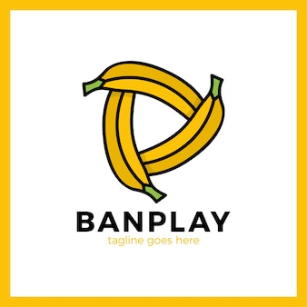 Three bananas play media logotype.