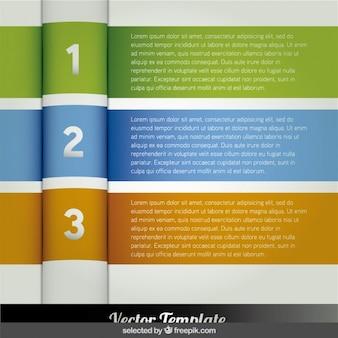 三つのバナーインフォグラフィックのステップ