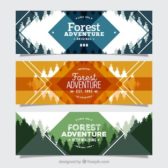 Three banners for the forest adventure