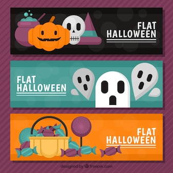 Three banners for halloween