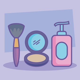 Three beauty products icons