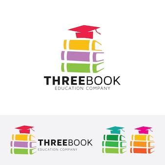 3冊のベクトルロゴテンプレート