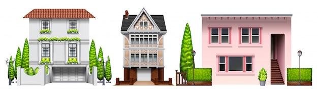 Three building designs
