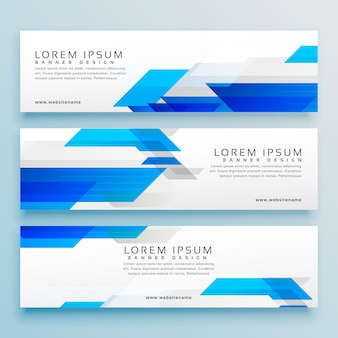 Three business style header banner design set