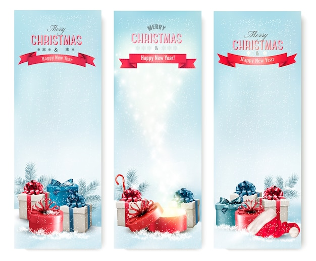 3 크리스마스 배너 선물.