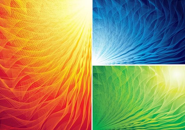 Три цвета абстрактных фонов