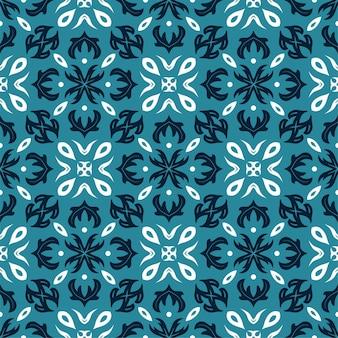 3色柄の飾り形。シンプルでシームレスな抽象的な背景