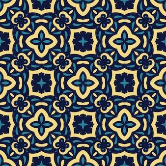 세 가지 색상 원활한 추상 모양입니다. 간단한 패턴 장식 배경