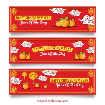 Three creative chinese new year banners