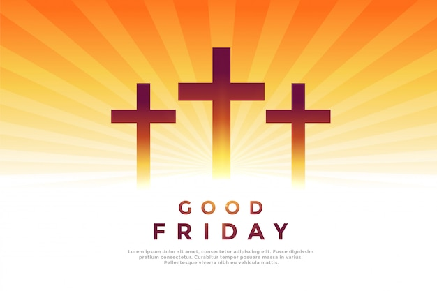 Three cross glowing symbols for good friday