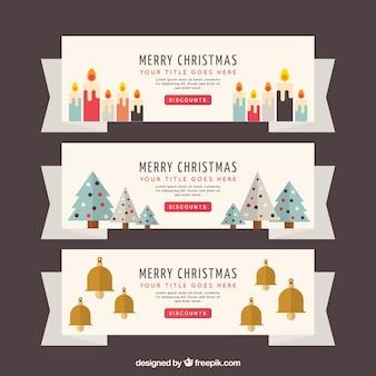 3 귀여운 크리스마스 배너