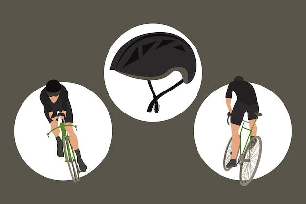 Three cycling sport icons