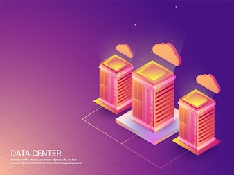 Three data or cloud servers connected with each other.