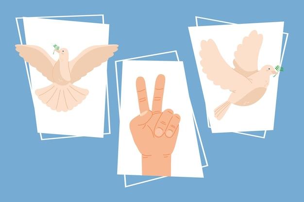 Три дня мира набор иконок