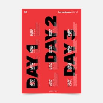 3日間のイベントプログラミングポスターテンプレート