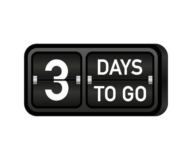 Three days to go clock, darck emblem banner