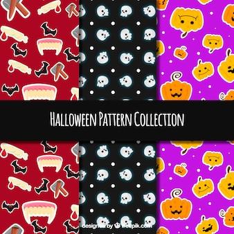 Three decorative halloween patterns